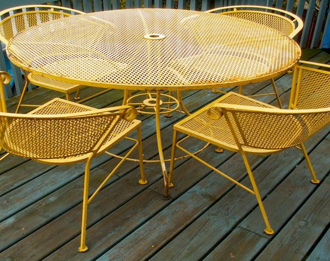 Best Idea outdoor table and chairs metal