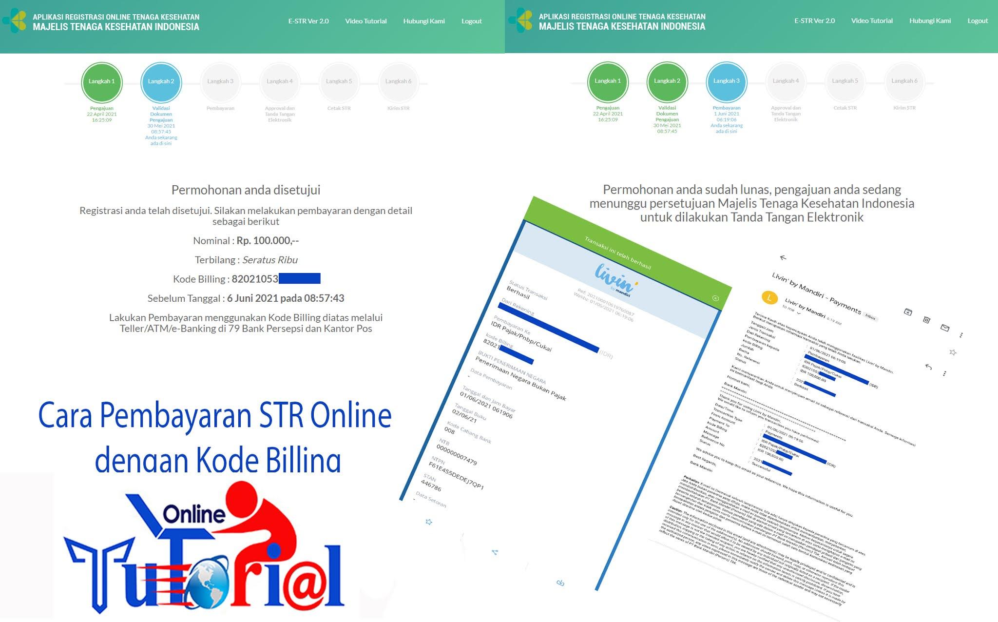 Cara Pembayaran STR Online dengan Kode Billing