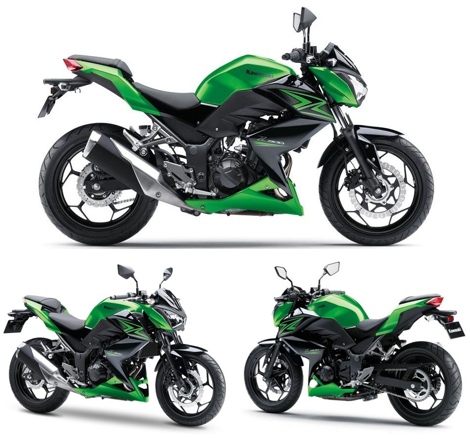 Sports Cycle Kawasaki Z300 Review A2 Compliant Streetfighter