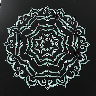 Carol Sykes from You Can Folk It created this mandala using Folk Art brushstrokes