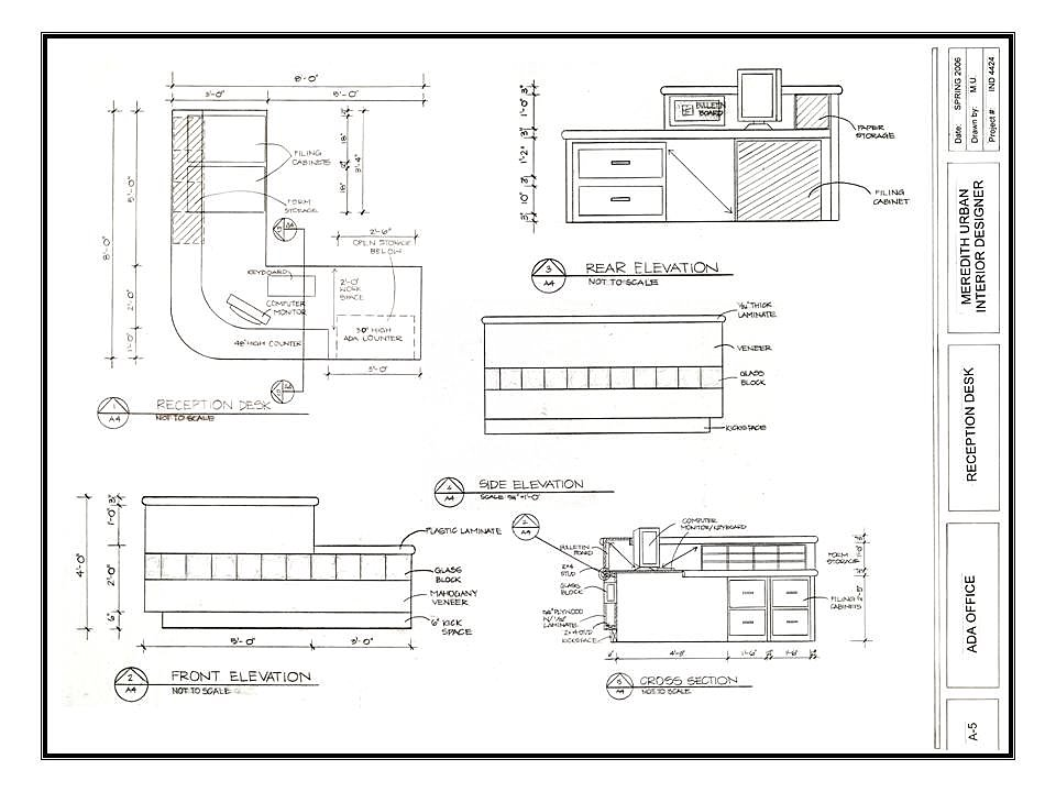 The NCIDQ Diaries: Sim Day Results: Millwork