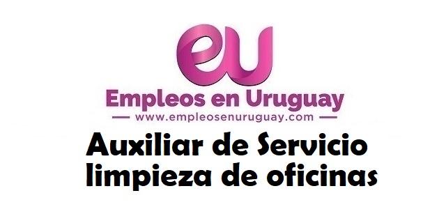 Auxiliar de Servicio para limpieza de oficinas