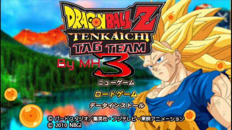 PSP Game DBZ Tenkaichi Tag Team 3 Mod With MENU Download
