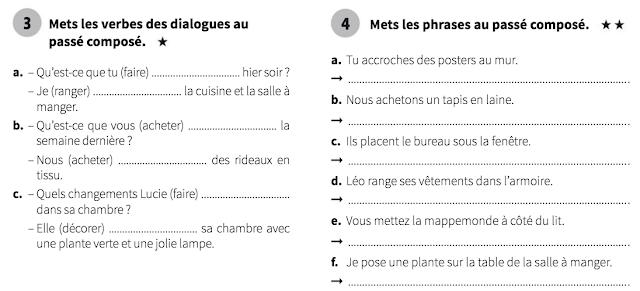 Passé composé - ćwiczenia 1b - Francuski przy kawie
