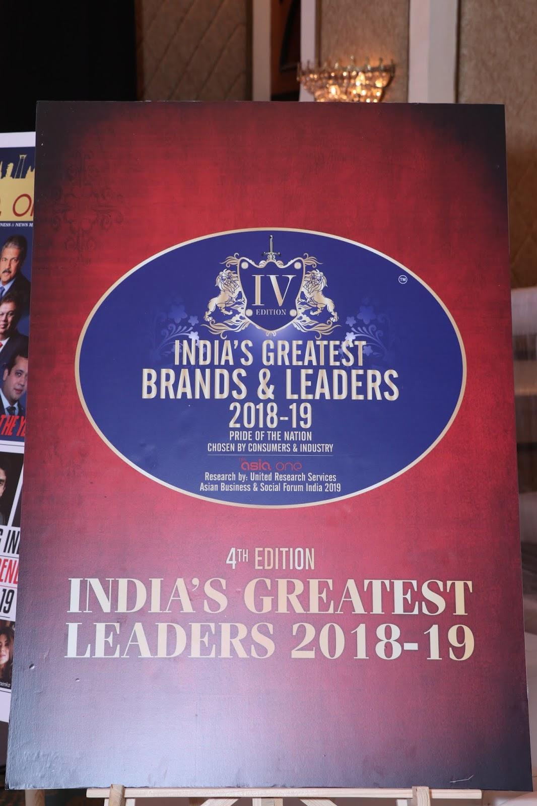 HoneyyGroup & Shri. Obulreddy Reddy Mukka Garu Achieved India's Greatest Brands & Leaders Awards 2019