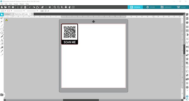 qr code, qr code craft, vinyl, printable vinyl, printable material