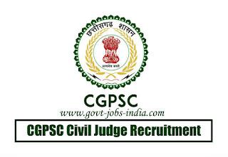 CGPSC Civil Judge Recruitment 2020