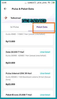 Cara beli paket data telkomsel via ovo