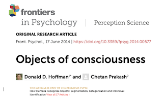 Objects of Conscious 2014, frontiers of psychology cover