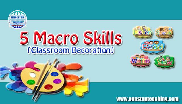 5 Macro Skills (Classroom Decoration)