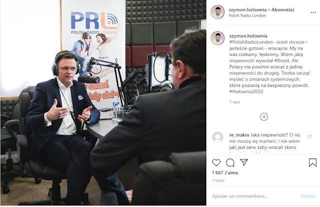 Szymon Hołownia udziela wywiadu w radiu