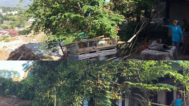 Memprihatinkan !! Dua Rumah di Proyek Jalan Tol Manado-Bitung