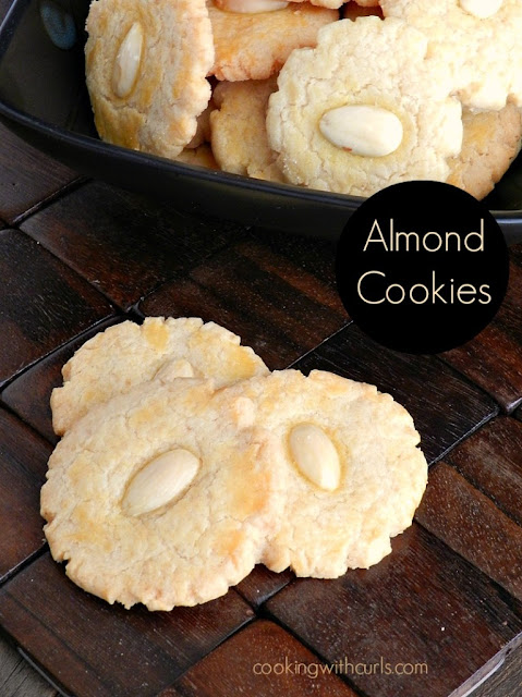 Almond Cookies by cookingwithcurls.com 20 Festive Holiday Treats 50