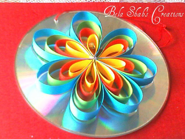 Bela's Quilled Creations: Quilling on used CD