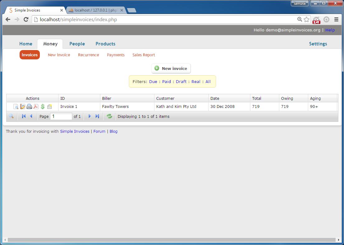 codingtrabla: install simpleinvoices on windows, Invoice examples