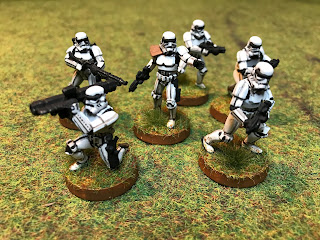 A small unit of Star Wars Stormtrooopers for Legion