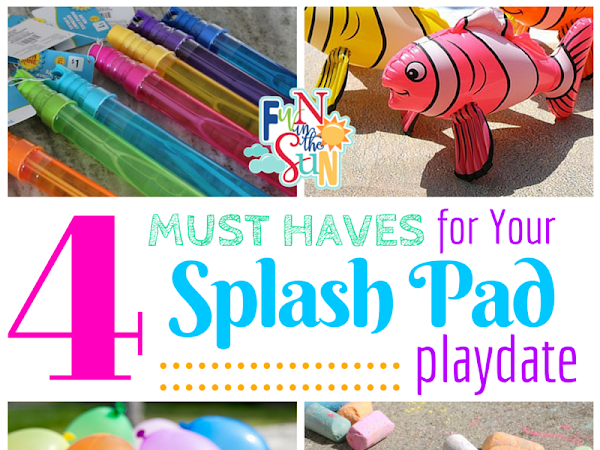 4 Must Haves for Your Splash Pad Playdate