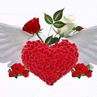 Rosas Rojas corazón rojo