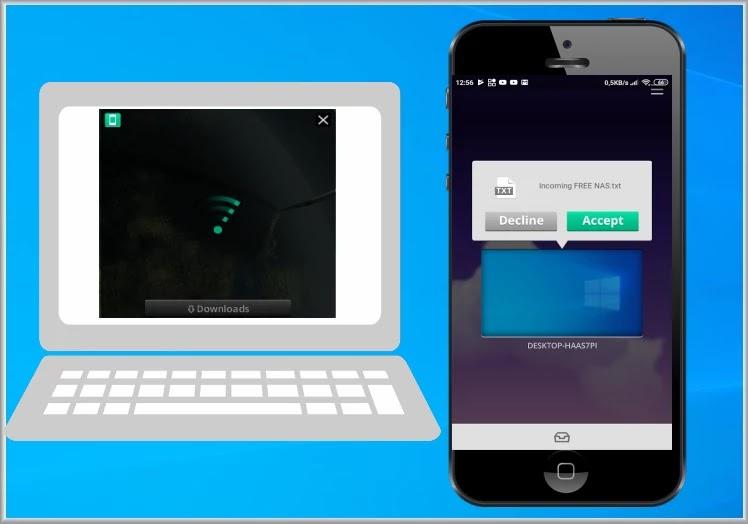 Filedrop : Ασύρματη μεταφορά δεδομένων μεταξύ υπολογιστών και κινητών