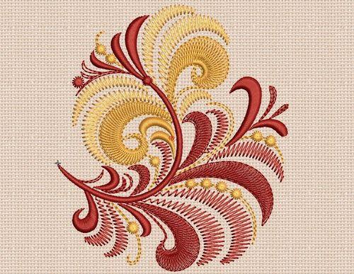 beautiful machine embroidery