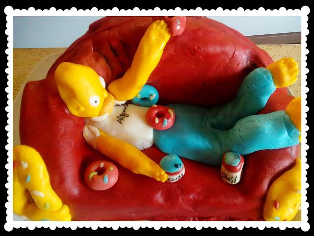 Tarta Fondant sofa Homer Simpson