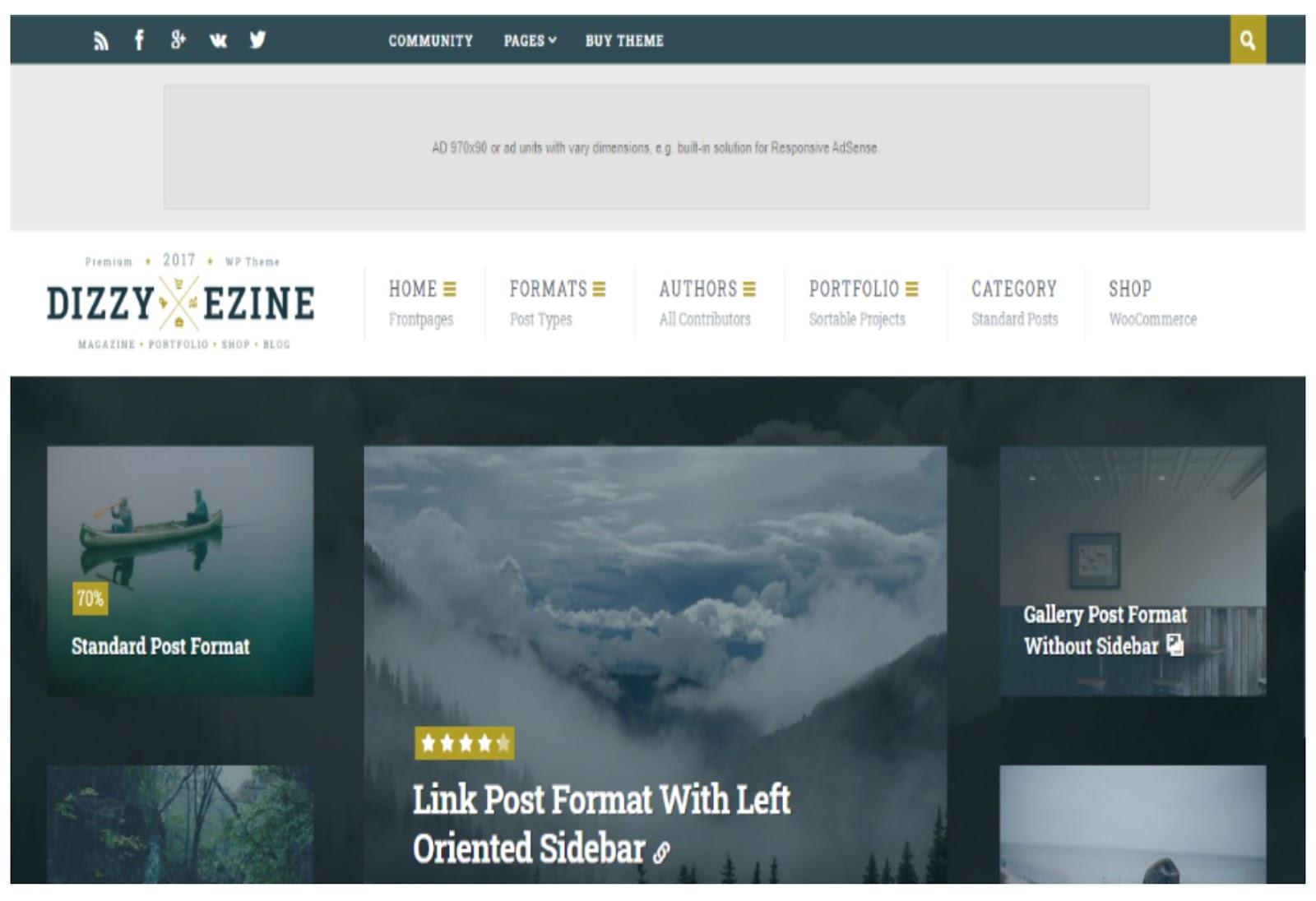 DizzyMag WordPress Theme