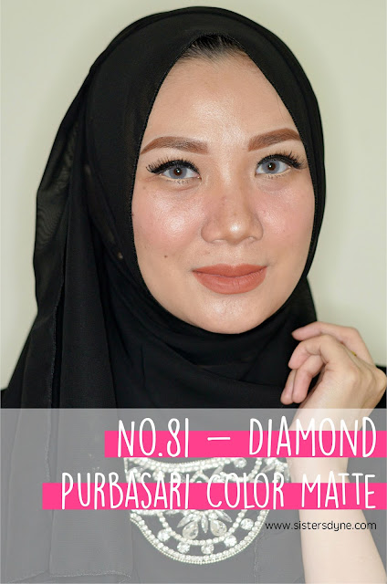purbasari lipstick color matte 81 diamond
