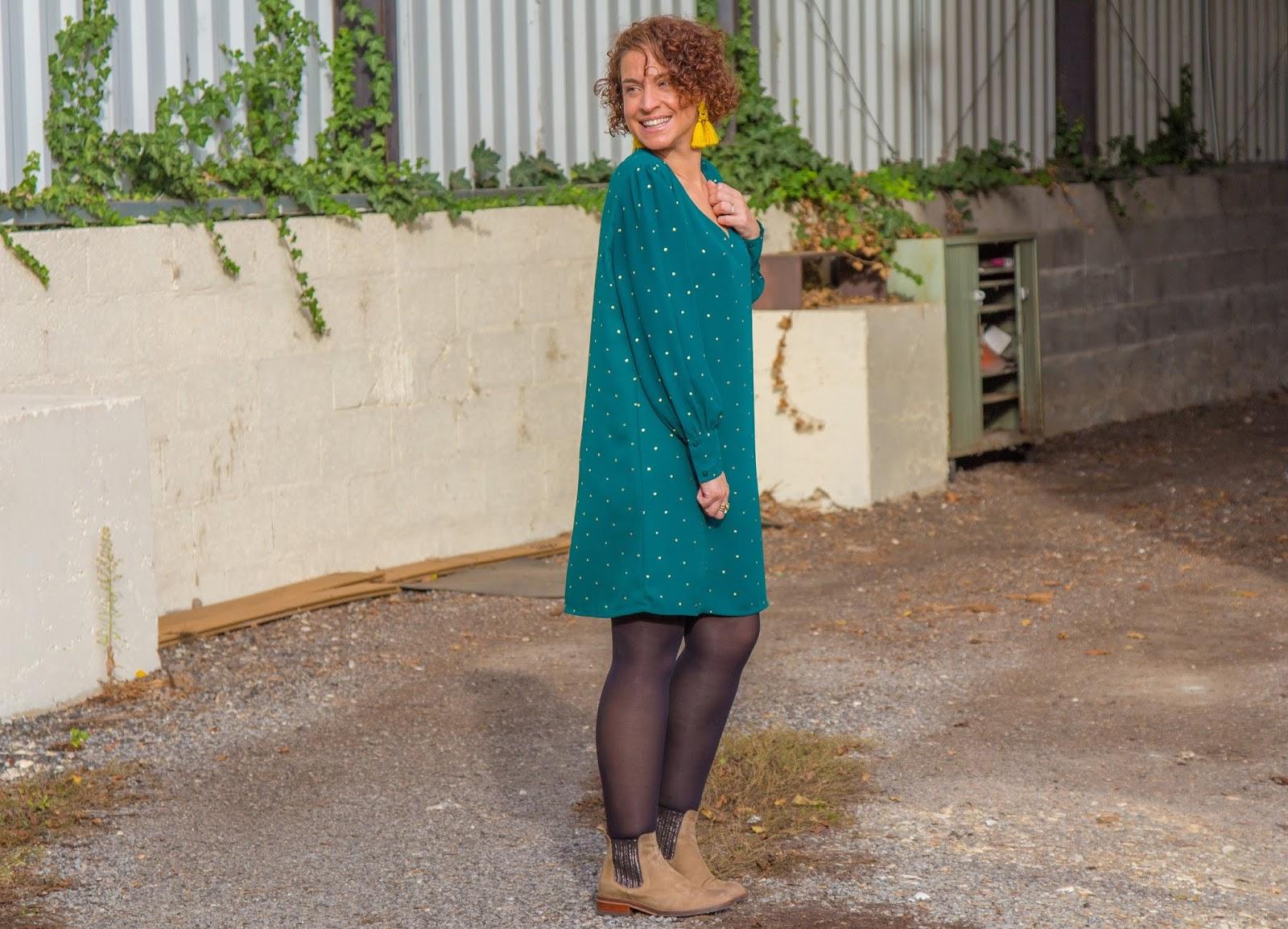 look-d-automne-en-robe-verte