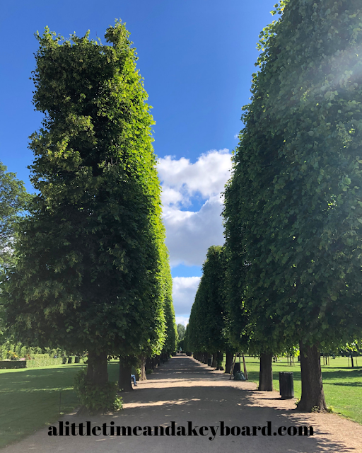 Stately walk through the King's Garden at Rosenborg Castle in Copenhagen, Denmark