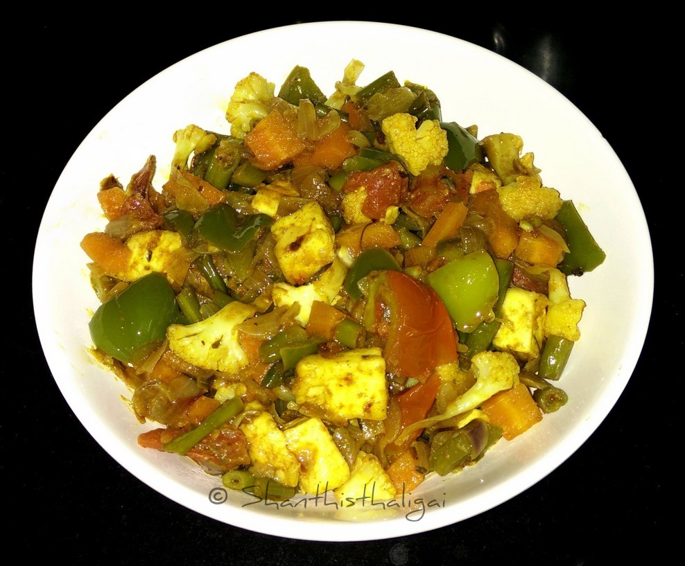 Mixed vegetable kadai curry, How to make kadai vegetable without onion and garlic,