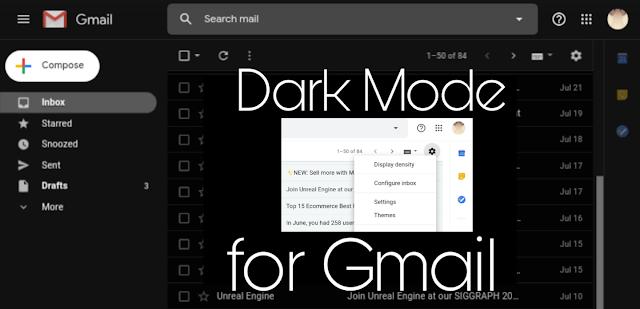 Gmail Dark Theme