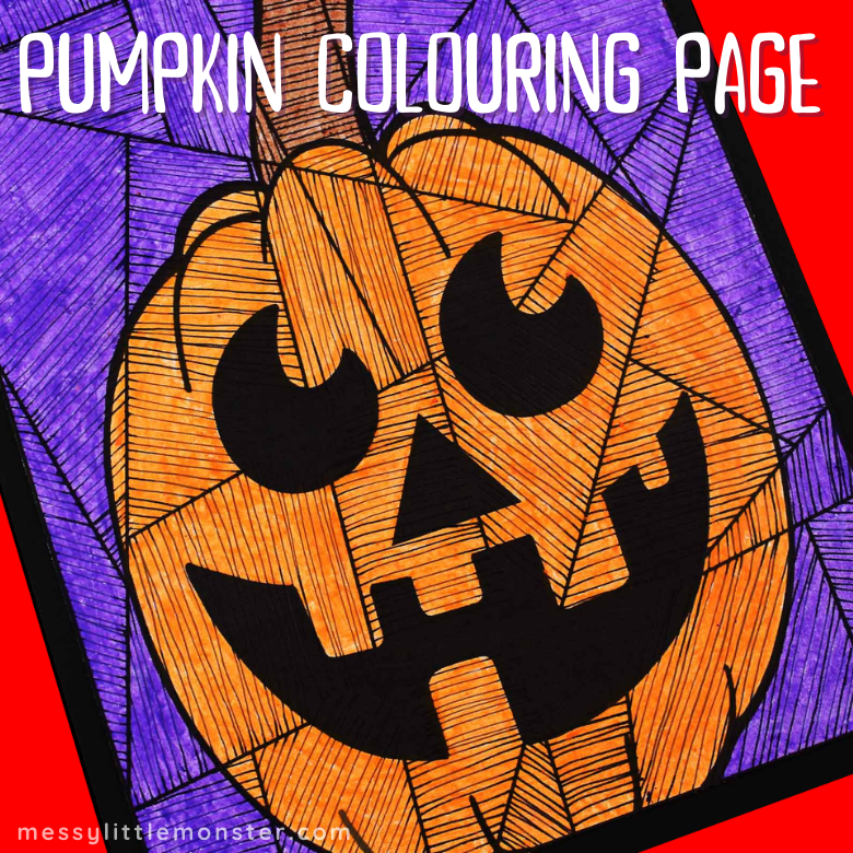Pumpkin Colouring Page Line Art