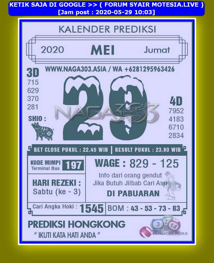 Kode syair Hongkong Jumat 29 Mei 2020 168