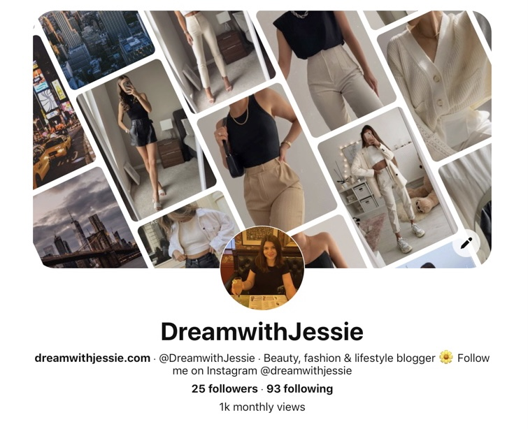 DreamwithJessie Pinterest Profile