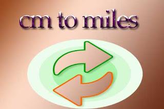 cm to miles