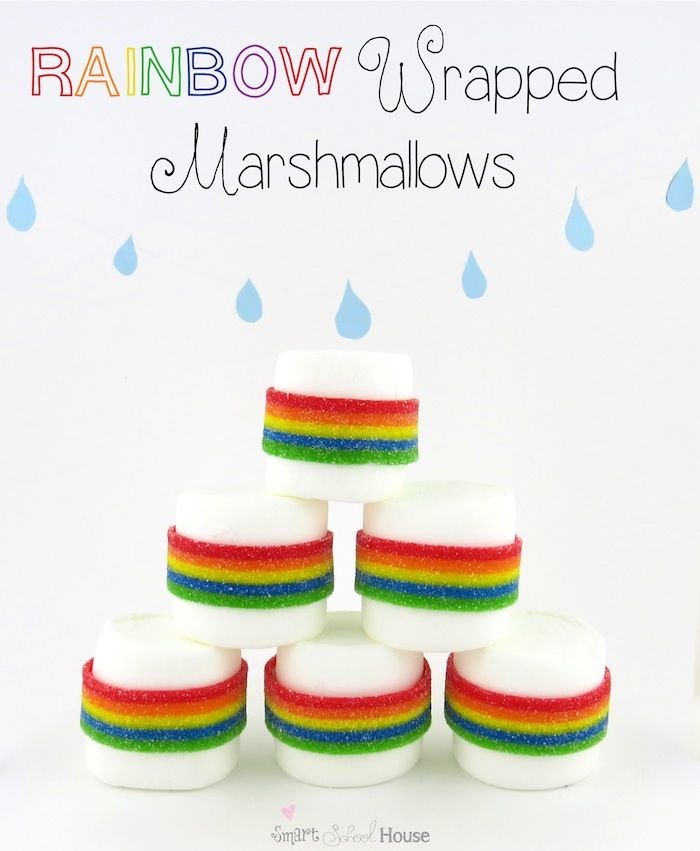 Rainbow Wrapped Marshmallows from Smart School House