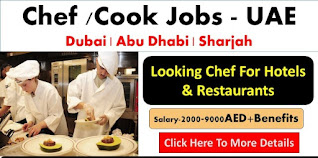 Required Chef/Cook in Dubai   Any Nationality Apply Now