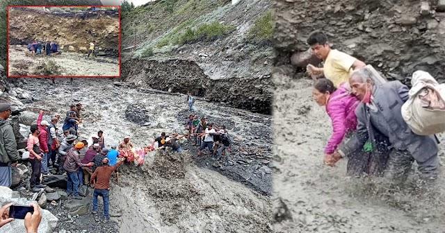 हिमाचल: उफनते नाले को पार कर पहुंचाया अस्पताल, बहने से बाल-बाल बचा युवक