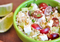 salada quinoa uva pepino
