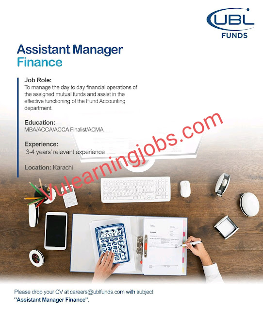 UBL Funds Manager Jobs 2020 For Assistant Manager Latest