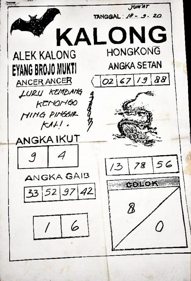 Syair HK Kalong