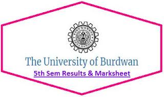 Burdwan University 5th Sem Result 2020