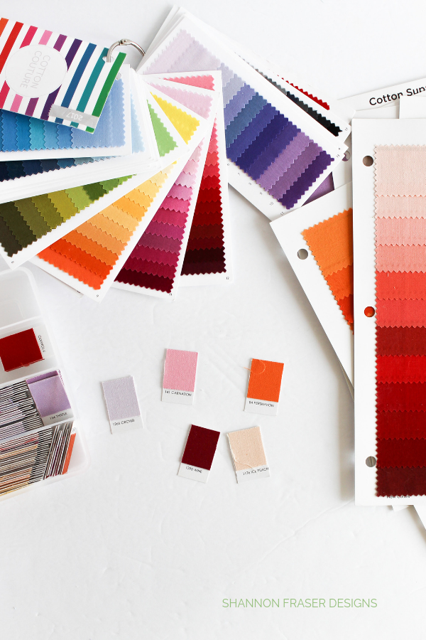 Color pull for Abstract Pretty | Q3 Finish-a-Long 2019 | Shannon Fraser Designs #color #colour #fabrics