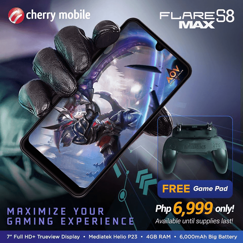 Note: The Cherry Mobile Flare S8 Max comes with a FREE GamePad