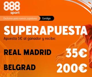 888sport superapuesta Real Madrid vs Belgrado 13 enero 2021