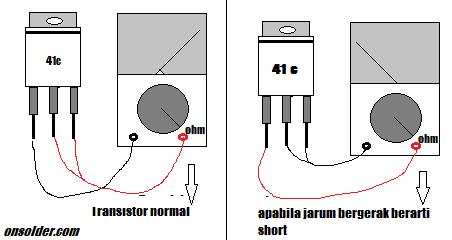 tanda kerusakan transistor