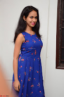 Pallavi Dora Actress in Sleeveless Blue Short dress at Prema Entha Madhuram Priyuraalu Antha Katinam teaser launch 073.jpg