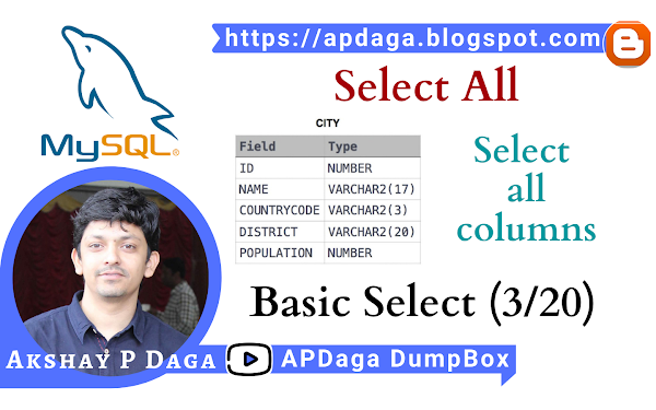 HackerRank: [Basic Select - 3/20] Select All | Select all columns in SQL