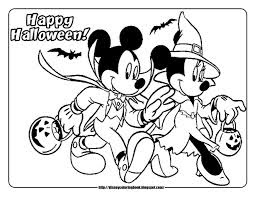 Disney Halloween Coloring Pages 9