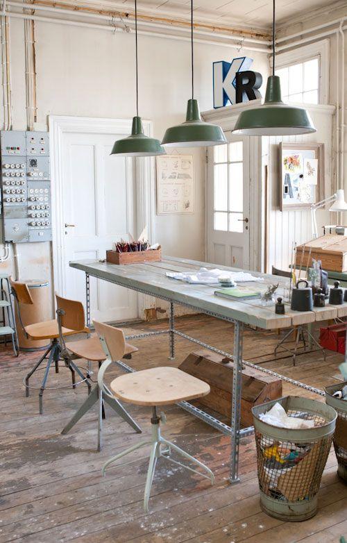 spesso Vivre Shabby Chic: Workspace Inspirations: uno studio Industrial Chic. GV52